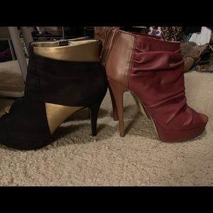 ShoeDazzle/Michael Antonio booties- 2 pairs!